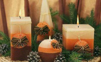 как украсить комнату на новый год свечами