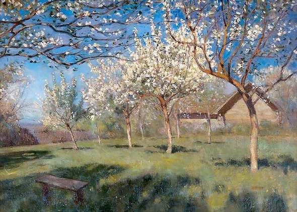 """Левитан """"Цветущие яблони"""""""