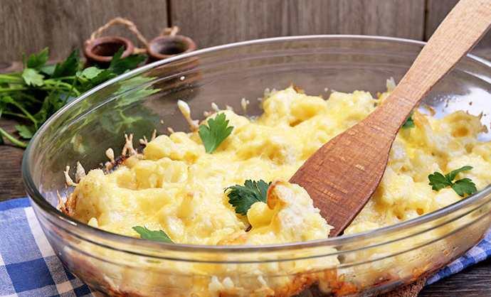 Цветная капусиа запеченная с сыром в духовке