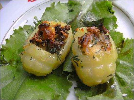 картофель фаршированный грибами_kartofel farshirovannyj gribami
