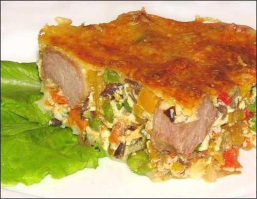 омлет со свининой и овощами_omlet so svininoj i ovoschami