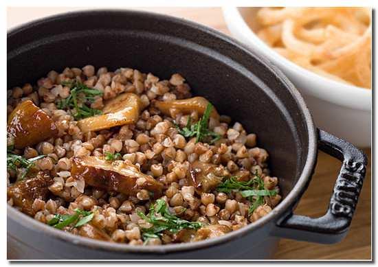 Рецепт гречневой каши с грибами и мясом