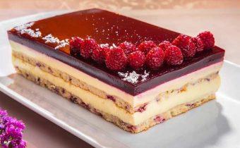 Рецепт малиново-творожного торта
