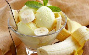 Банановое мороженое с йогуртом