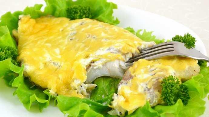 Рыбное филе в сырной шубе