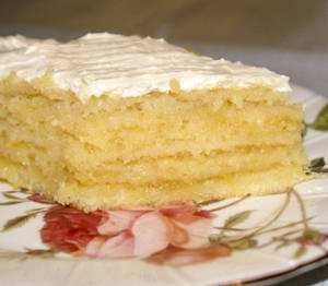 Крем с лимоном для торта