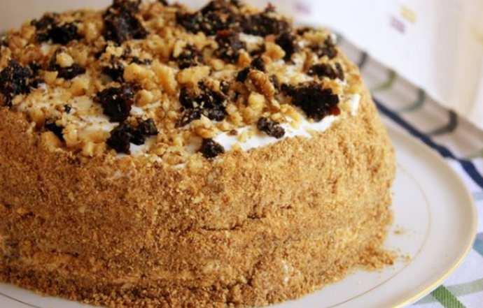 торт медовик на кефире