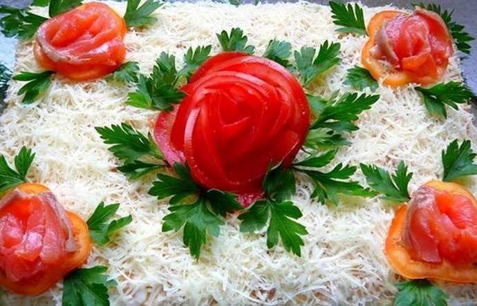 Торт салат Очарование