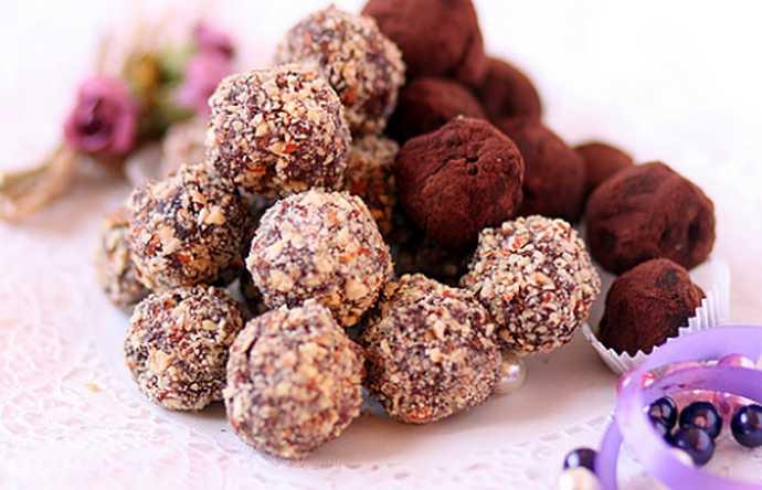 Новогодние шоколадные трюфеля