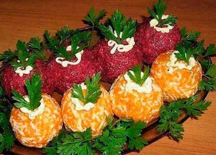 Оригинальная закуска из селедки