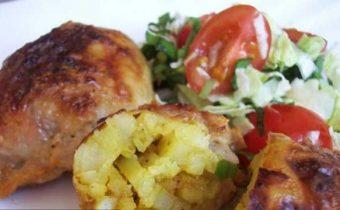 картофель запеченный в куриной шкурке