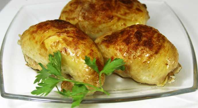 Картофель в куриной шкурке