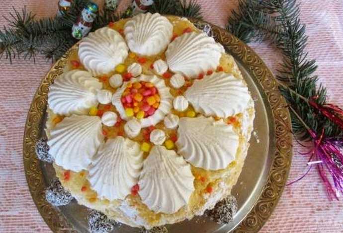 Торт из зефира