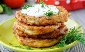 Оладьи из кабачков - рецепт приготовления