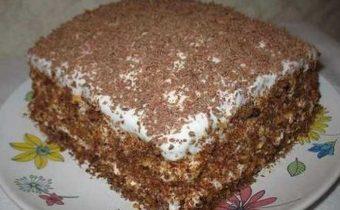 Торт со сгущенным молоком