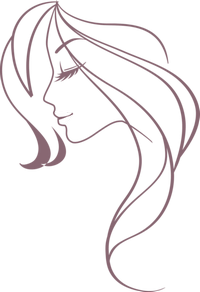 силуэт женской головки